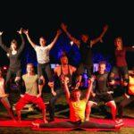 Talentshow Pyramide bei SOMMERJUNG, dem Ferienlager für Erwachsene