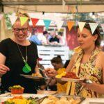 Veganes Buffet bei SOMMERJUNG, dem Ferienlager für Erwachsene